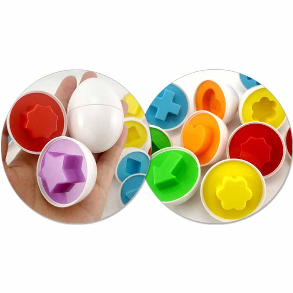 1 pc edukacja zabawki edukacyjne mieszane kształt Wise puzzle imitujące inteligentne jajka dziecko dziecko jajko nauka puzzli dla dzieci