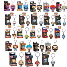 FUNKO POP DISNEY Game of thrones Toy Story ALADDIN MARVEL Venom Stitch Hulk Thor Loki Dragonball Action Figure Sleutelhanger met doos(China)