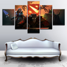 5 Panel Canvas Painting Home Decor Living Room DotA 2 Fantasy Pudge HD Print Game Poster Modern Wall Art Pictures Artwork