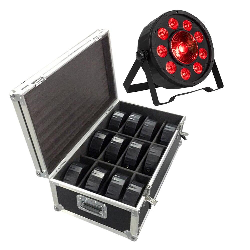 FlightCase With 6/8/10/12/16pcs LED Fat Par 9X10W+1X30W RGB Light RGB 3IN1 LED Stage Lighting DJ Light DMX Led Par Party Lights
