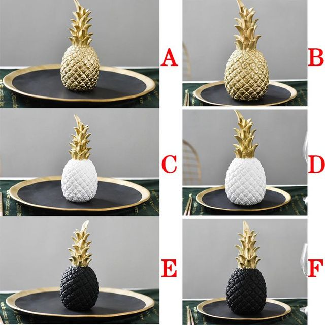 Nordic Modern Home Decor Golden Pineapple Creative Wine Cabinet Window Desktop Display Props Home Decoration Accessories 2