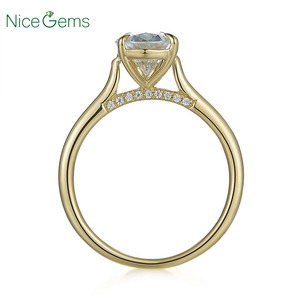 Image 2 - 14K Yellow Gold 1.5 Carat Pear Cut ring 4 prong set D Color Moissanite Engagement ring For  Wedding anniversary gift