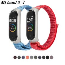 Nylon Armband für Xiao mi mi band 4 3 Sport Armband Atmungsaktive Strap gürtel für Xiao mi mi band 4 NFC smart watch Accessorries(China)