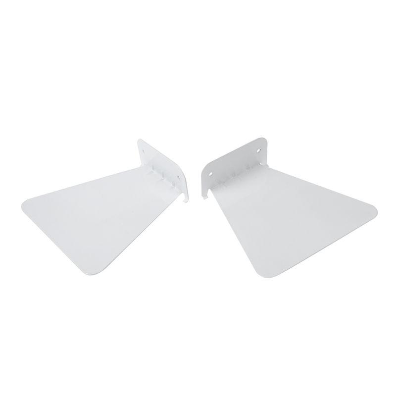EASY-2pcs Modern Iron Book Shelf Wall Invisible Bookshelf For Home Decoration Floating Bookshelf(White)