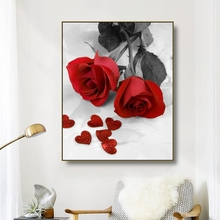 Canvas Art Painting Rose A bunch of roses Art Poster Picture Wall Decor Colorful Modern Home Decoration For Living room Office