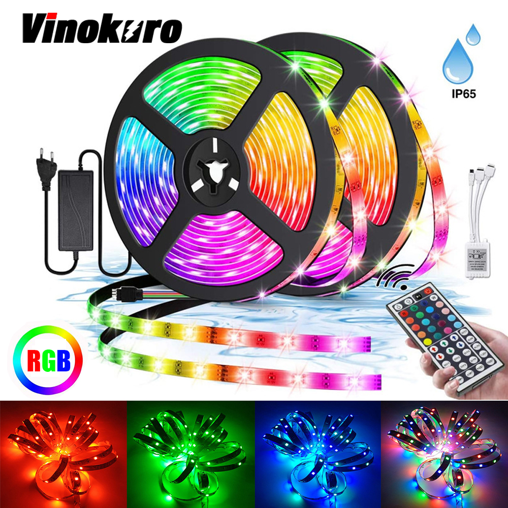 12V LED Strip SMD RGB Tape 5050 2835 Flexible Led Light Strip 5M 10M 15M Diode Tape With Remote Control For Home Decoration