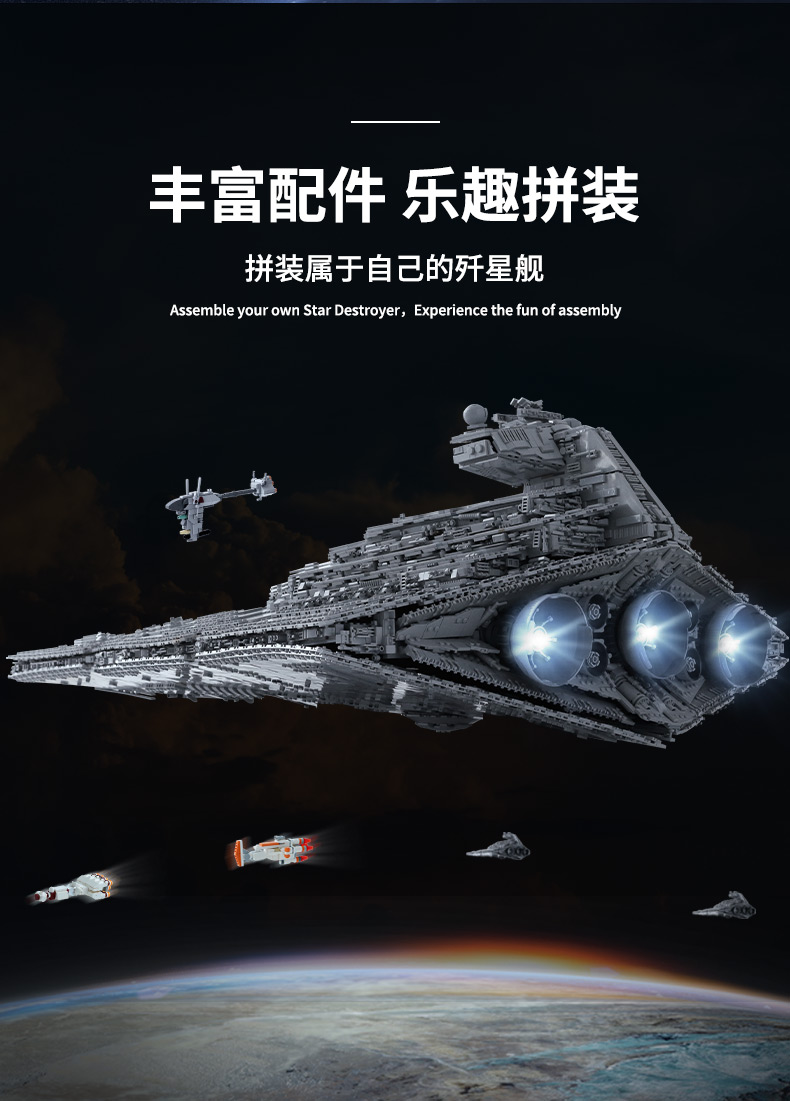 05027 Star Toys Wars The MOC-23556 Imperial Star Destroyer Compatible With Legoing 75252 Kids Christmas Gifts Building Blocks 12