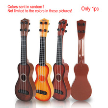 Имитационные игрушки, музыкальные инструменты, 4 струны, укулеле, мини обучающая игрушка, укулеле для детей, случайным образом