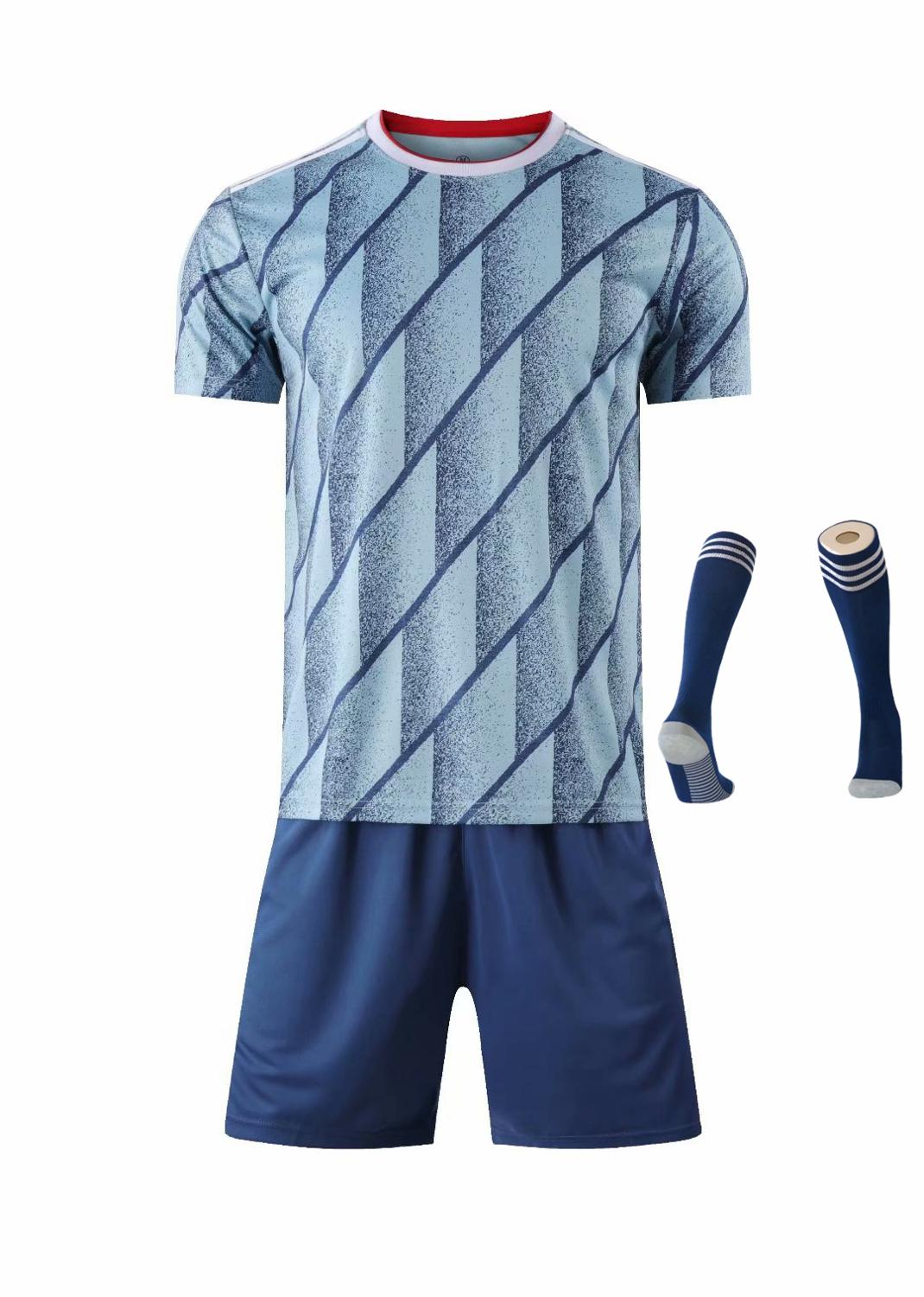Children Sets football uniforms boys and girls sports kids youth training suits blank custom print soccer set with socks 40