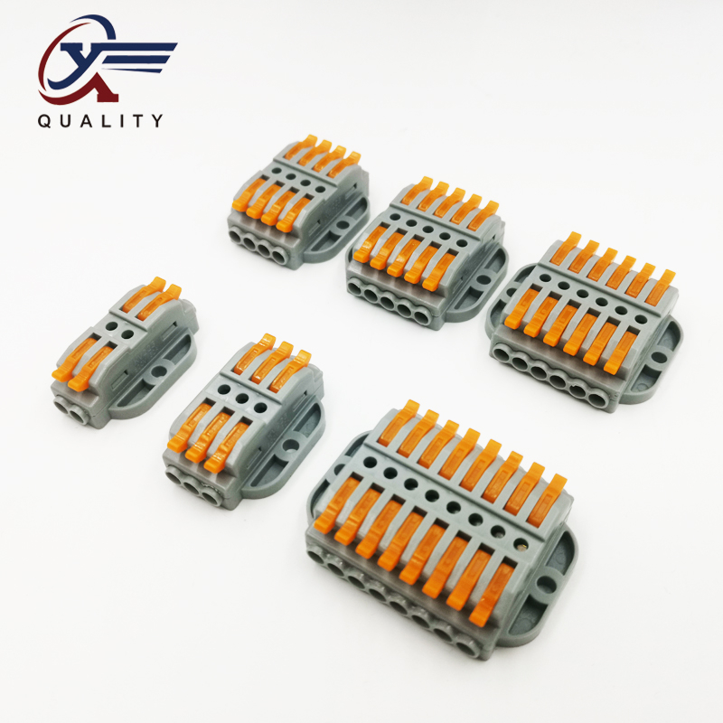 1PCS Wire Connector 2/3/4/5/6/8 Pin New Universal Docking Fast Wiring Conductors Push-in Terminal Block Electrical Equipment