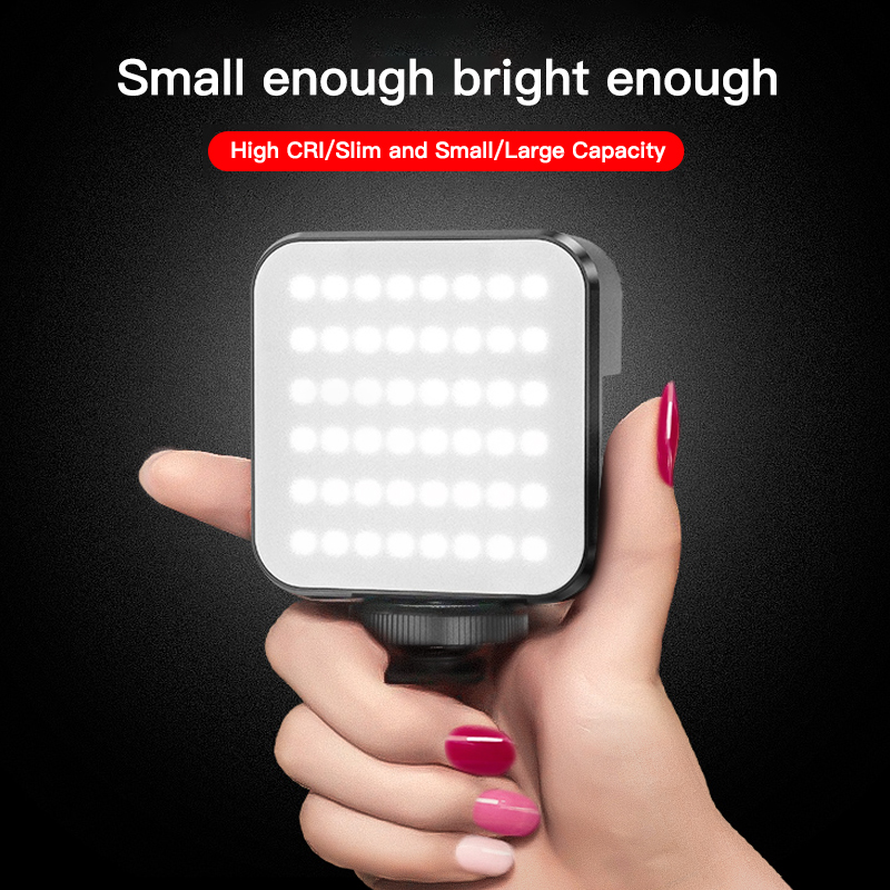 Mini Video Fill LED Studio Light For Photography Lighting 2000mAh Camera Lamp Type-C Charge With Tripod For phone Selfie Stick