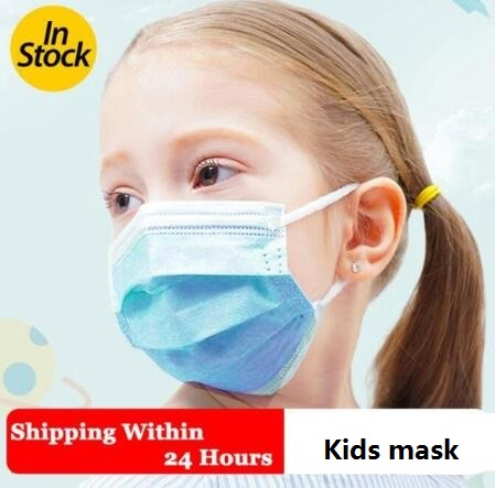 100PCS Kids Mask Face Mouth Anti Virus Mask Child Mask Disposable 3 Layers Filter Children Mask Dustproof Face Mouth Masks