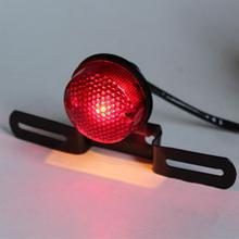 12V мотоцикл Красный тормозной Хвост сзади светильник лампочка для Harley измельчитель на заказ, для кафе, для гоночного мотоцикла сигнал поворота, стоп-сигналы