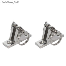 316 Stainless Steel bimini top hardware Marine Part Depot Top 90 degree Chrome Deck Hinge with Pin and Ring