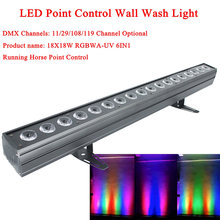 Новый светодиодный настенный светильник 18x18 Вт rgbwa + uv