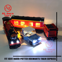 Compatible Legoed harryed bricolage Potter Hogwartsing Train Express kit d'éclairage LED Bloc De Construction Jouets (Ne Comprend Pas Les Blocs)(China)