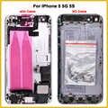 Nieuwe Full Behuizing Case Voor IPhone 5 5G 5S Batterij Back Cover Deur case Midden Frame Bezel Chassis + Flex Kabel met IMEI