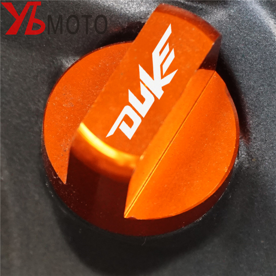 Motorcycle Accessories CNC Orange Aluminum Engine Magnetic Oil Drain Plug cover For KTM DUKE 125 200 390 duke RC 125/200/390 image