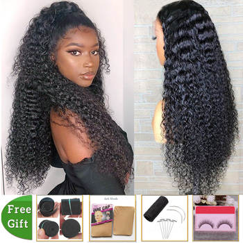 long hair wig kinky curly human hair wig Brazilian 28 30 inch lace front human hair wigs for women lace closure wig frontal wig