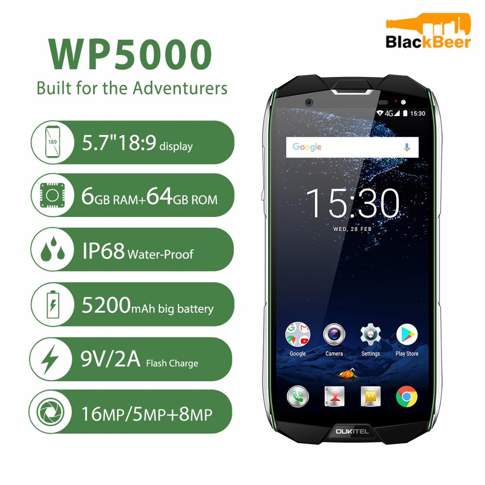 OUKITEL WP5000 Android 7.1 Mobile Phone IP68 Waterproof Octa Core 5.7