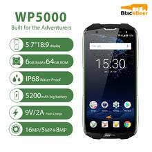 "OUKITEL WP5000 Android 7.1 cep telefonu IP68 su geçirmez Octa çekirdek 5.7 ""18:9 Smartphone 64GB 9V/2A hızlı şarj 5200mAh cep telefonu"