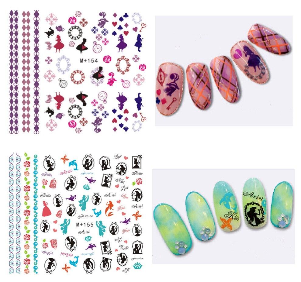 M + 154-158 New Style Japanese Korean Watermarking Manicure Stickers Alice Watermark Nail Sticker Flower Stickers Nail Sticker
