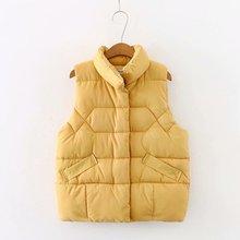 Пуховое хлопковое пальто, осенний и зимний жилет для женщин, без рукавов, на каждый день, на молнии, женские жилеты, желтый, черный
