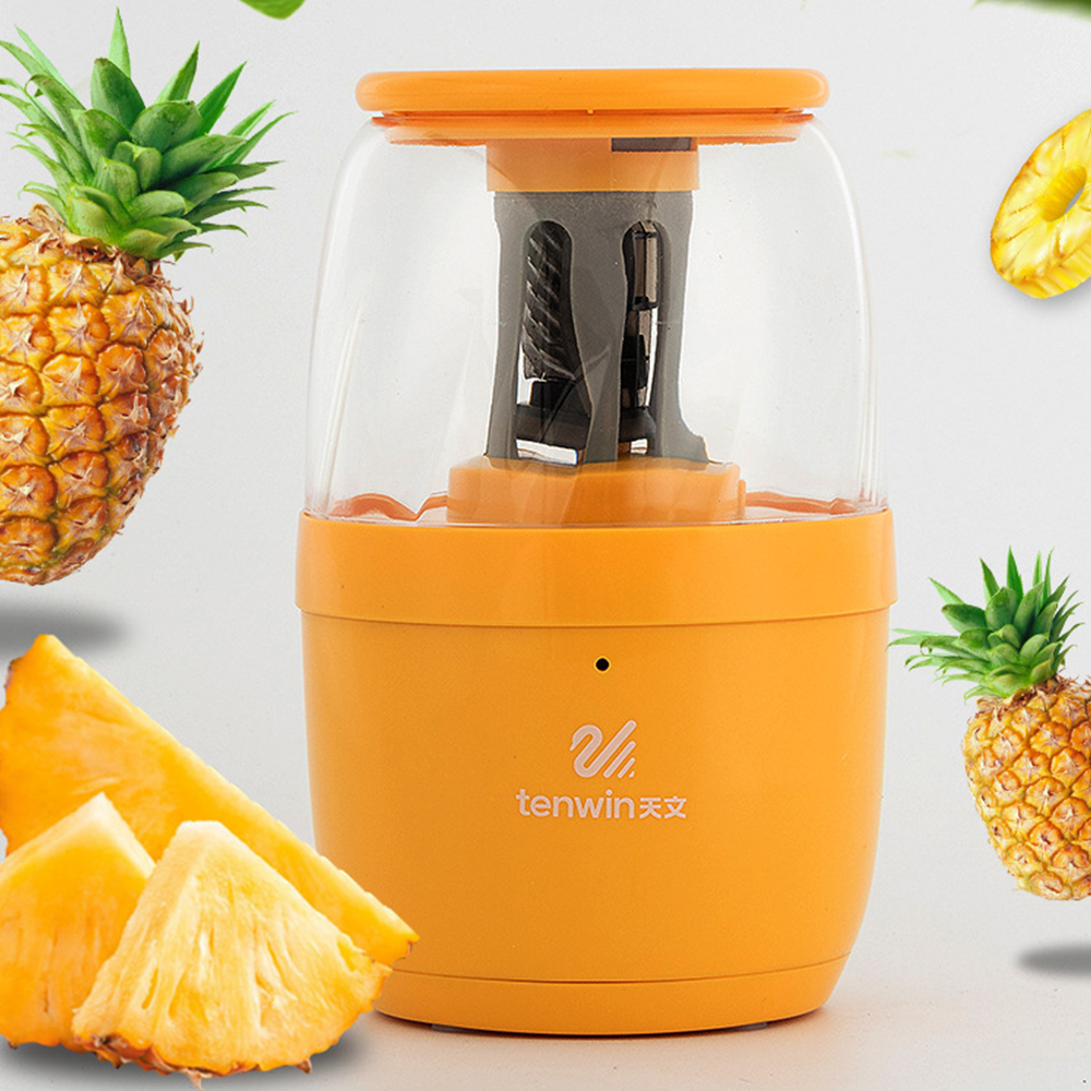 Electric Pencil Sharpener Cute Cartoon Student Stationery Pineapple Shape Humorous Fun USB Charging Portable Pencil Sharpener