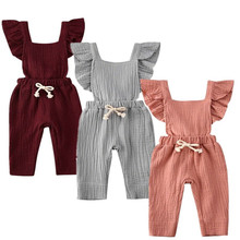 Infant Romper Newborn Baby Girl Ruffled Sleeveless Backless One Piece Romper Jumpsuit Backless Outfit Ruffle Clothes new arrival party girl baby romper clothes embroidery turkey pattern ruffle newborn clothes matching boy romper gpf803 115