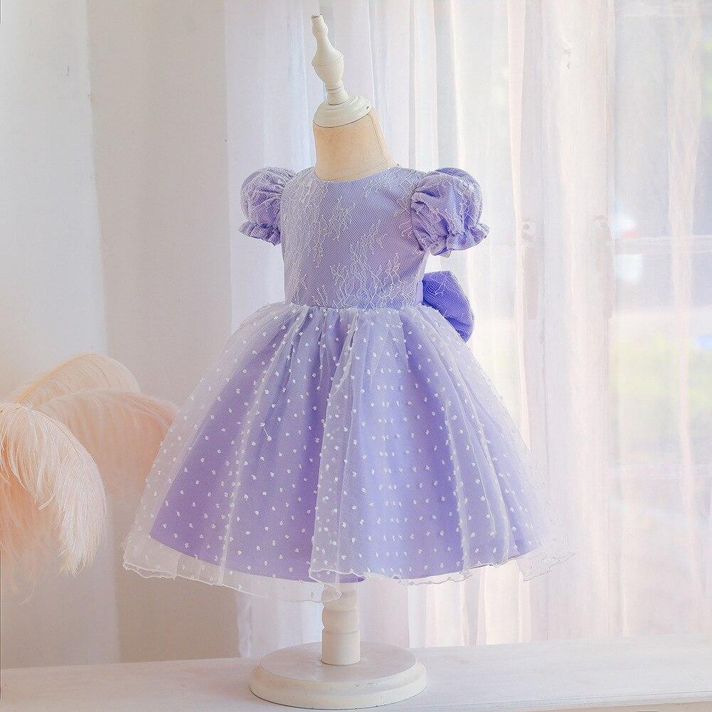 Neue Baby Ein Jahr Alt Waschen Kleid Baby Madchen Kleid Grossen Bogen Spitze Schal Kleid Kleider Aliexpress