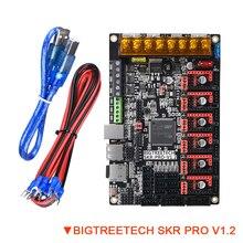 Placa de Control BIGTREETECH SKR PRO V1.2 TMC2209 TMC2208 UART TMC2130 SPI 32 Bit piezas de impresora 3D Placa de actualización doble Z SKR V1.3