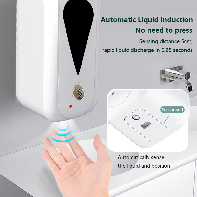 1200ML Automatic Sensor Soap Dispenser Hand Clean Machine Touchless Wall-mounted Hand Soap Sanitizer Spray Hand Cleaner Machine