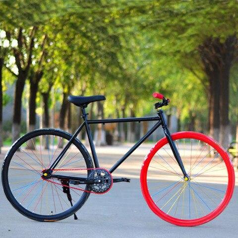 Masculina e Feminina Bicicleta Engrenagem Fixa Polegada 700c Gorda Pista Retrô Velocidade Única Armação Colorida 2020 Nova Varal 26