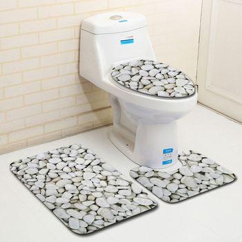 Antypoślizgowe maty do kąpieli dywan łazienkowy łazienka 3D drukowanie kamienia antypoślizgowy dywanik kąpielowy wycieraczki dywanik łazienkowy produkty łazienkowe tanie i dobre opinie bathroom rug polyester fiber pattern carpets Ekologiczne Nowoczesne Włóknina Łazienka 45*75cm