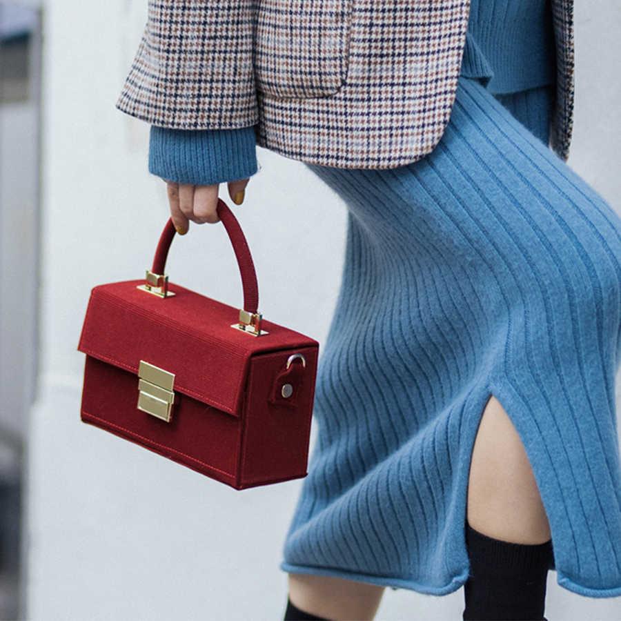 Винтажная винтажная Вельветовая сумка Samll, квадратная сумка для женщин, роскошные сумки с металлической пряжкой, Женская Повседневная сумка через плечо, элегантная