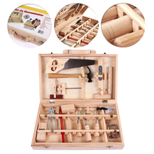 Simulation Repair Tools Wooden Tool Sets Construction Accessories Set Play House Toy Early Educational Woodworking Puzzle Toys wooden child maintenance tool toolbox simulation house toys set puzzle early education montessori toys