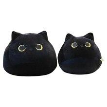 Coussin en peluche en forme de chat noir mignon, jouet, poupée, animal, joli, doux, dessin-animé, cadeau de saint-valentin pour fille, décoration,