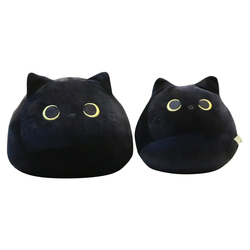 Lovely Cartoon Animal Stuffed Toys Cute Black Cat Shaped Soft Plush Pillows Doll Girls Valentine Day Gifts Ornament