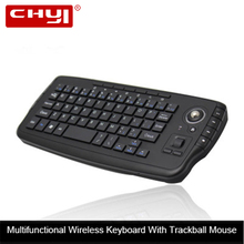 Wireless Trackball Keyboard For Computer Mini Combo Keypad And Mouse 2.4Ghz Portable Usb Ergonomic Keyboard For Office Laptop PC