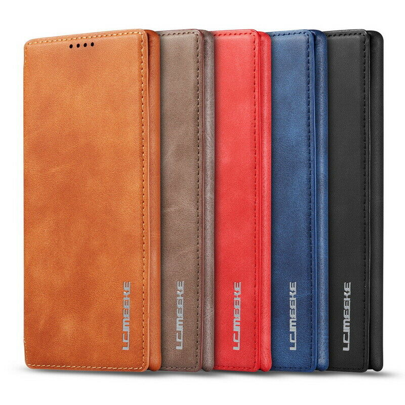 For <font><b>Samsung</b></font> Galaxy Note 10 + A10 A20 A30 A70 A20E A50 S10E <font><b>S10</b></font> S8 S9 Plus S7 Genuine Leather Magnetic Wallet <font><b>Flip</b></font> Case <font><b>Cover</b></font> image