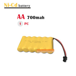 7.2v battery 700mah ni-cd 7.2v aa battery nicd batteries pack ni cd rechargeable for RC boat model car electric toys tank