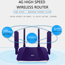 R8 Wireless WiFi Router for 4G Modem with 4 External Antennas 300Mbps Router Support Card(EU Plug)(China)