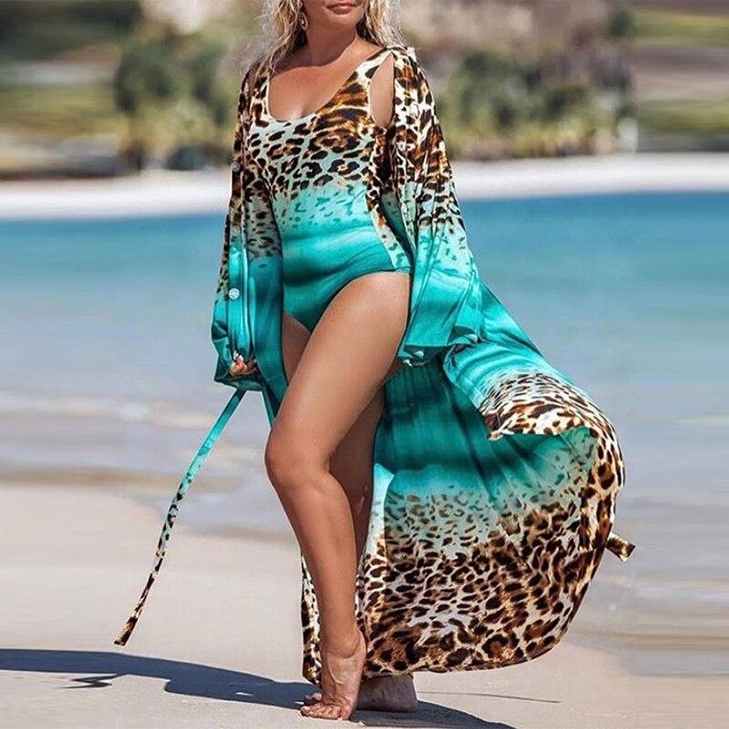Sexy Leopard Print Swimsuit Swimwear Summer Women Cover-Up Bikini Swimwear Brazilian Bodysuit Monokini Beach Wear 1
