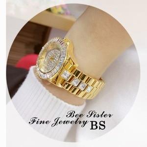 Image 5 - Reloj de moda Para Mujer, de cuarzo, con diamantes de imitación, femenino