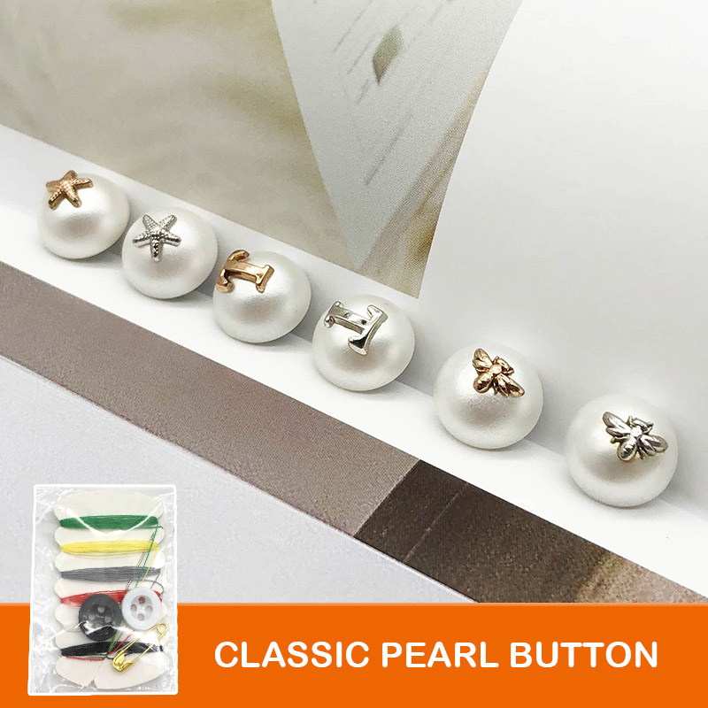 6pcs Round Pearl Buttons for T shirt Clothing Button Decoration handle DIY in Buttons from Home Garden
