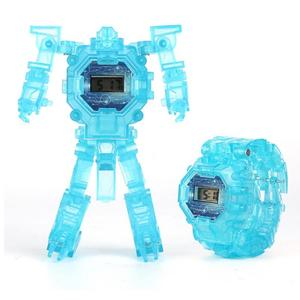 Luminous Deformation Children's Watch Robot Transformation Watch Toy Mech Robot Electronic Watch Children Sports Cartoon Watch