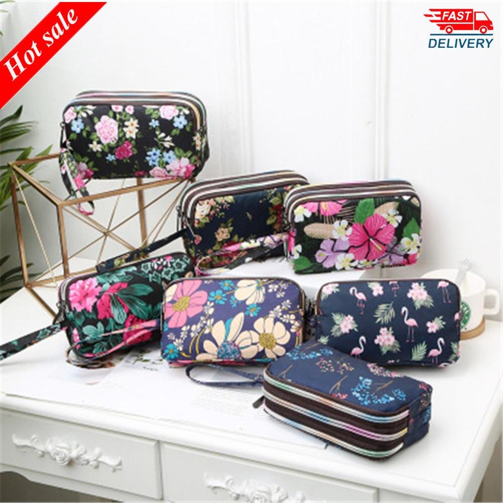 New Wallet Custom Korean Coin Purse Phone Bag Ladies Wallet Running Cloth Bag Girls Women Big Capacity Cute Zipper(China)