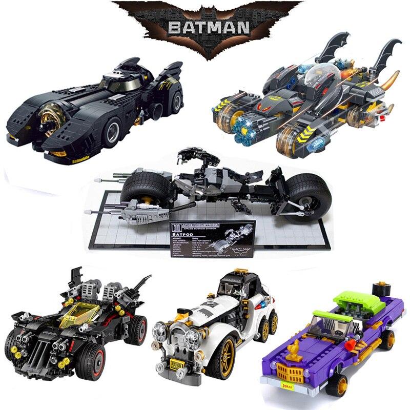 For Legoing Batman Movie Figures Superhero Superman Joker Compatible Legoings Car Batmobil Technic Building Blocks Kid Toys Gift