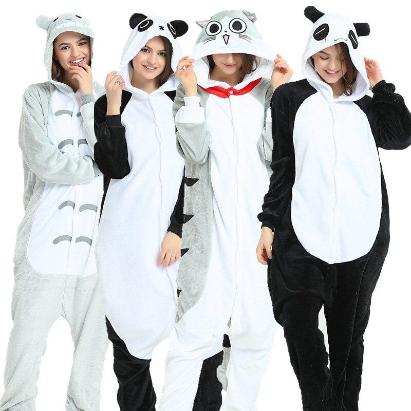 Soft Hairy Pyjamas Women Unicorn Pijama Flannel Cute Animal Pajamas Women Winter Unicornio Kigurumi Nightie Sleepwear Homewear