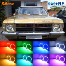 Para chevrolet opala caravan 1975 1976 1977 1978 1979 rf remoto bluetooth app multi-color ultra brilhante rgb led anjo olhos kit